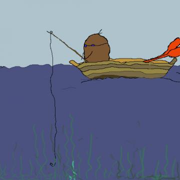 Kartoff på fisketur